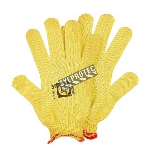 Gant d'inspecteur ambidextre et ajusté en tricot de Kevlar® et Lycra. Anti-coupure ASTM/ANSI 2. Taille S à L. Vendu à la paire.