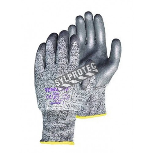 TenActiv™ cut-resistant composite knit glove with polyurethane coating. ASTM/ANSI cut-resistance level A5. Sold in pairs