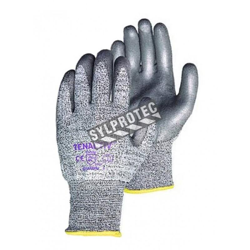 Gant TenActiv™ en composite anti-coupure enduit de polyuréthane. Indice de résistance anti-coupure ASTM/ANSI A5 Vendu à la paire