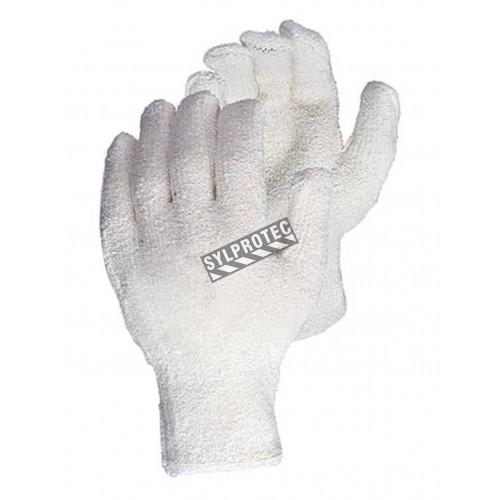 """Gant anti-coupure de niveau 2 en tricot de coton éponge avec doublure """"Oil-bloc"""" de nitrile. Modèle pour homme vendu à la paire."""