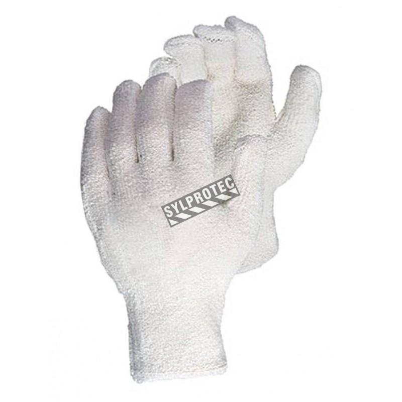 """Gant en tricot de coton éponge avec doublure """"Oil-bloc"""" de nitrile ANSI chaleur niveau 3. Modèle pour homme vendu à la paire."""