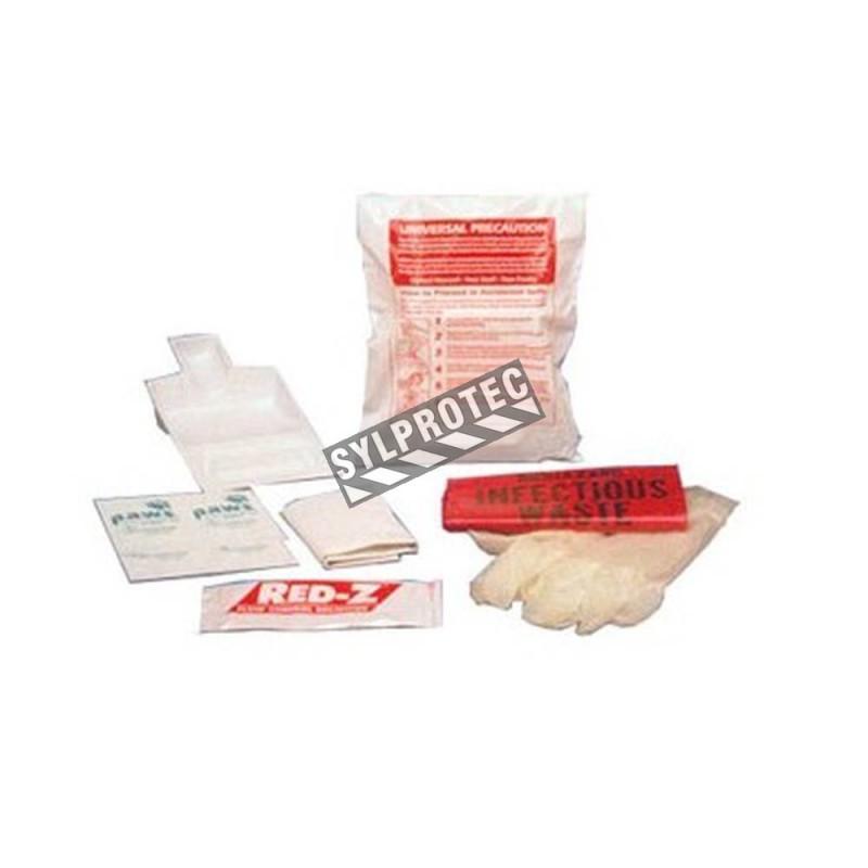 Economic body fluids clean-up kit.