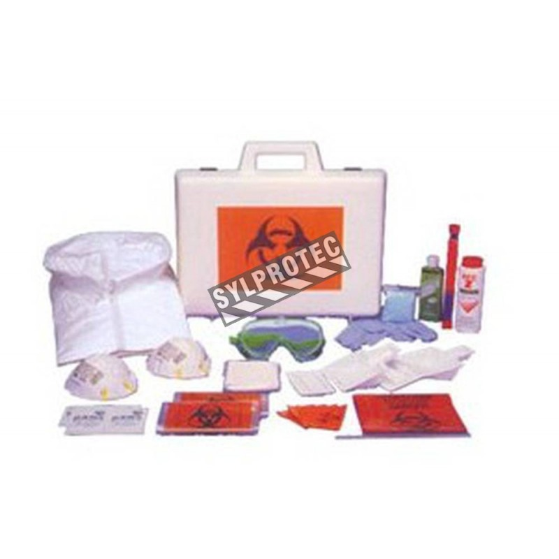 Deluxe body fluids clean-up kit.