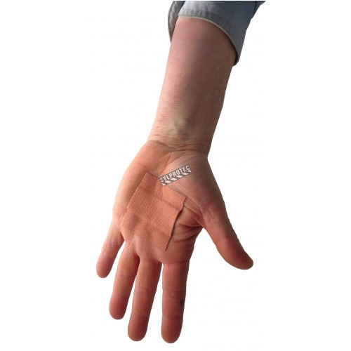 Rouleau de pansement en tissu élastique, 6 cm x 5 m (2.4 po x 16 pi), à couper selon besoin.