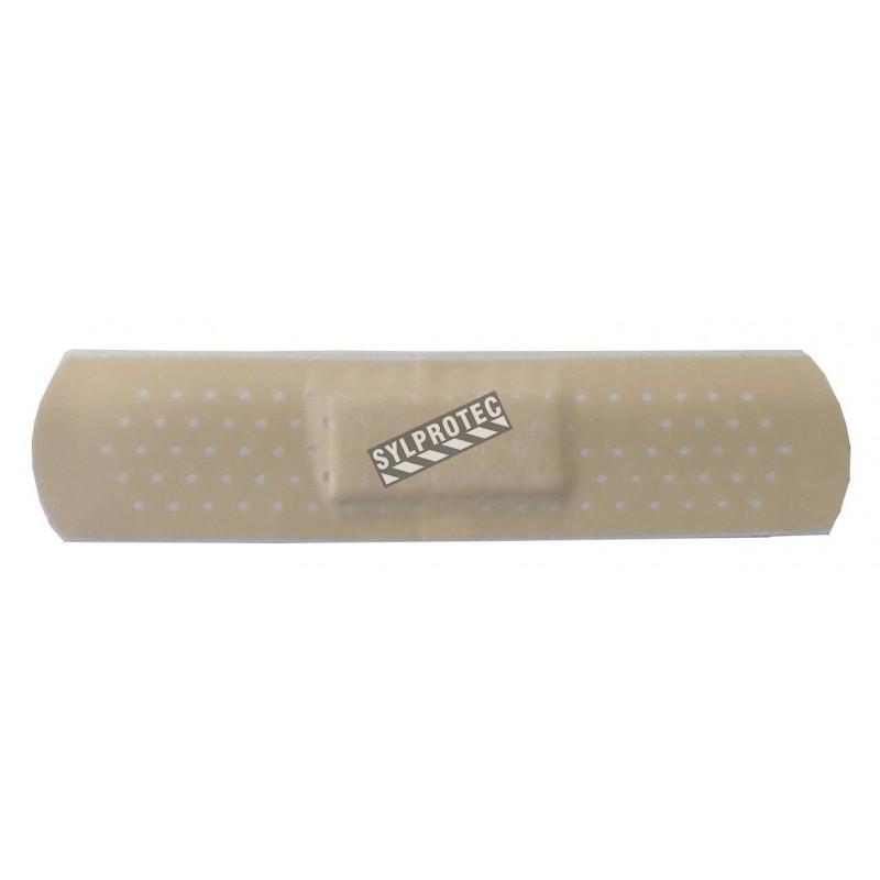 Pansements en plastique beige, 2 x 7.5 cm (0.75 x 3 po), 100/bte.