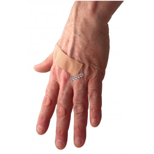 Elastic fabric bandages, 2.2 x 7.5 cm (7/8 x 3in), 100/box.