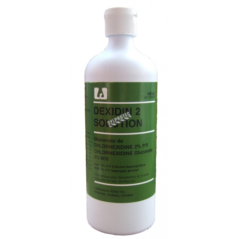 Solution antiseptique Dexidin 2, 450 ml.
