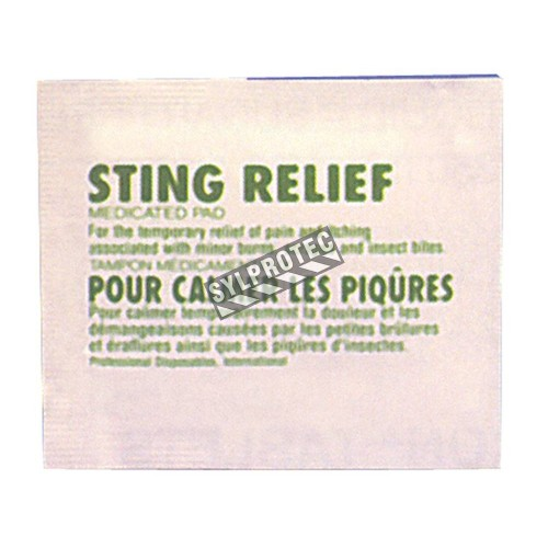AfterBite pads for insect stings, 10/box.