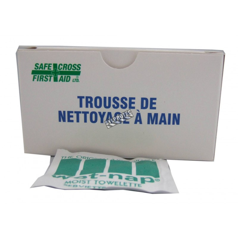 Hand-cleansing towelettes, 12/box.
