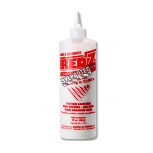 Poudre agglomérante Red-Z pour nettoyage des liquides corporels.