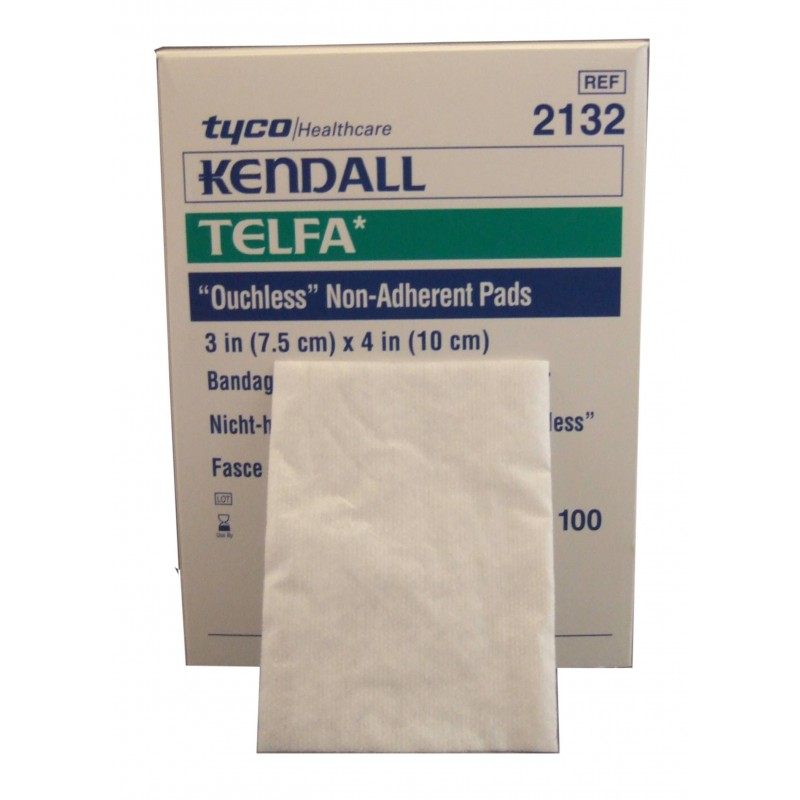 Telfa Sterile Non Adhering Dressing Pads 3 X 4 In 100 Box