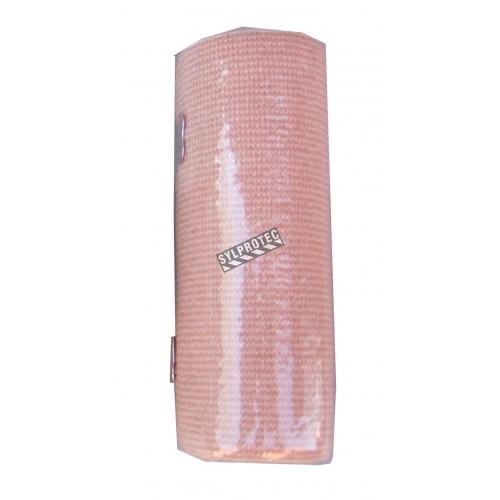 Rouleau de bandage élastique beige, 6 po x 16 pi, vendu à l'unité.