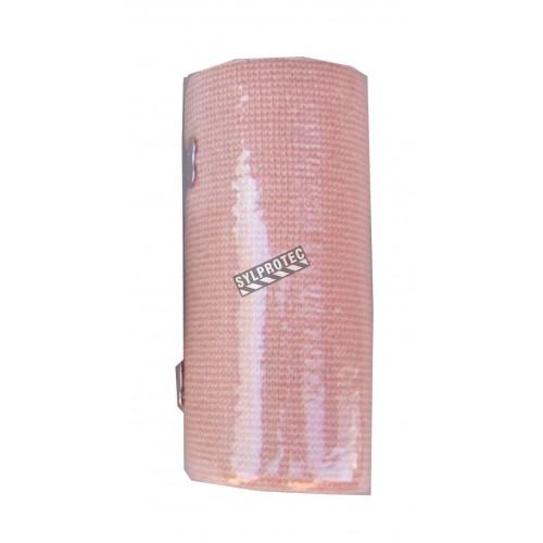 Rouleau de bandage élastique beige, 4 po x 16 pi, vendu à l'unité.
