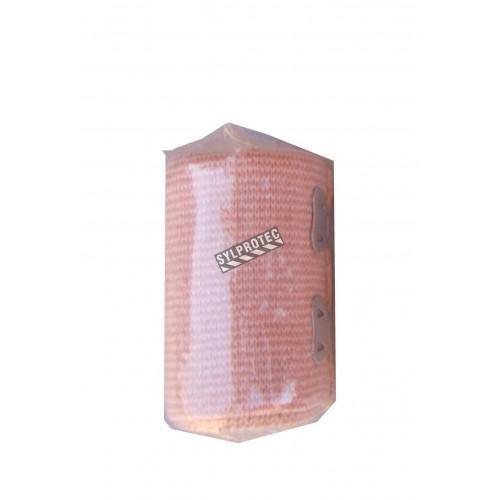 Rouleau de bandage élastique beige, 2 po x 16 pi, vendu à l'unité.
