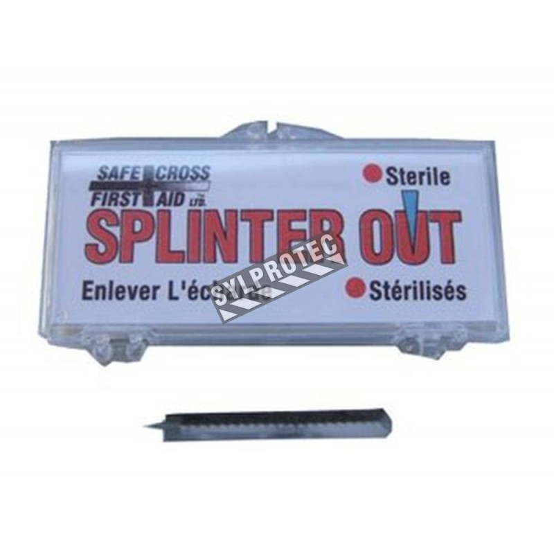 Sterile single-use splinter removers, 3 in (7.6 cm), 20/box.