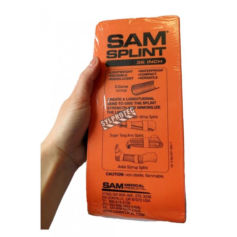 Attelle polyvalente SAM (SAM Splint) en mousse avec armature d'aluminium, 36 po (91.4 cm).