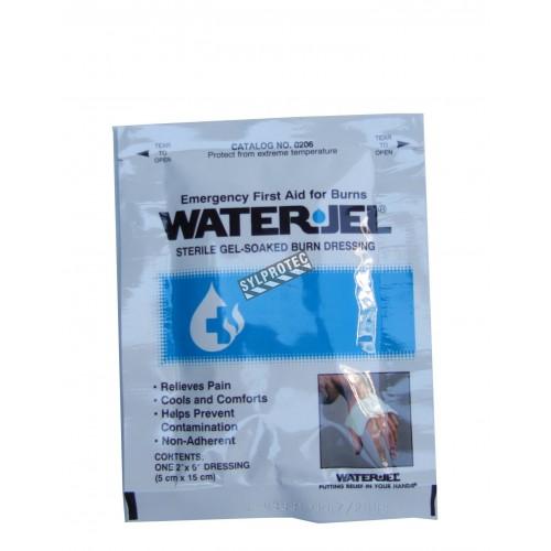 Pansement stérile pour brûlures Water Jel en sachet individuel, 2 x 6 po.