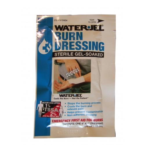 Pansement stérile pour brûlures Water Jel en sachet individuel, 4 x 4 po.