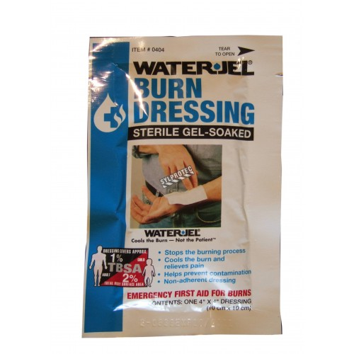 Water Jel sterile burn dressing, individually packed, 4 x 4 in.