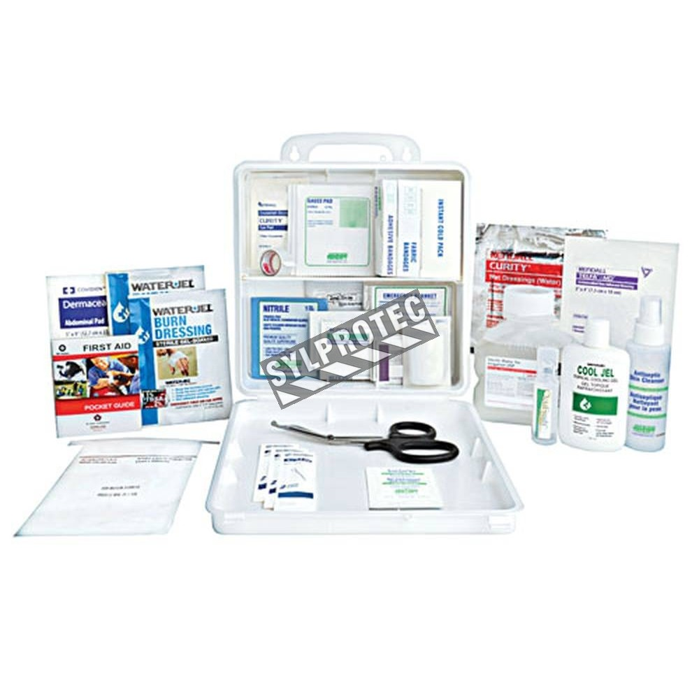 First Aid Kit With A 29 Types Of Item Content For Burns Care