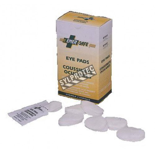 Sterile eye pads, sold individually.
