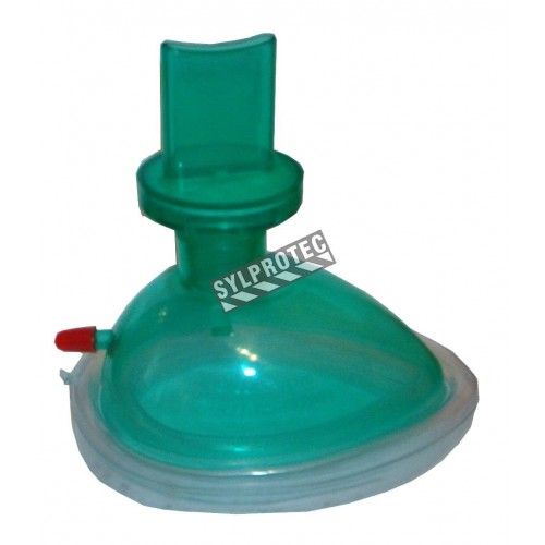Resuscitation (CPR) mask for children, with one-way valve.