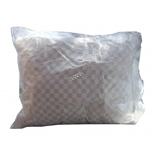 Oreiller en polyester non-allergénique, taille standard.