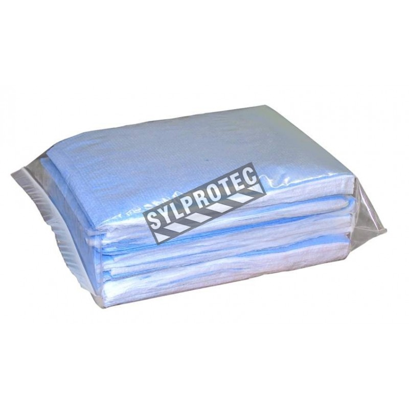 Disposable tissue pillowcases with polyester backing, 25/pkg.