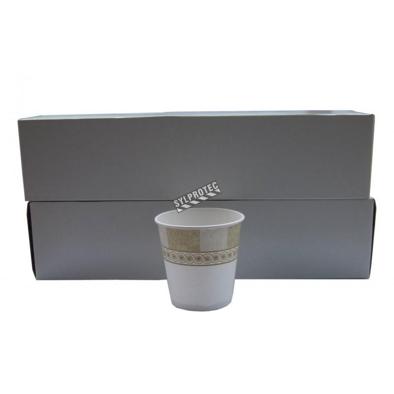 Disposable paper cups, 88 ml, 100/pkg.