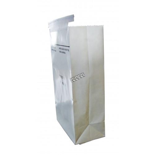 Sac d'émèse pour le vomi, en papier blanc, vendu à l'unité.
