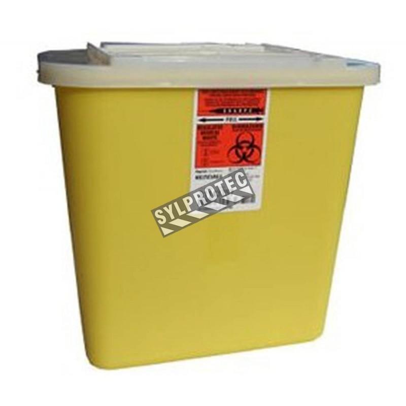 Contenant pour déchets tranchants ou piquants, 7.6 L (2 gallons US).