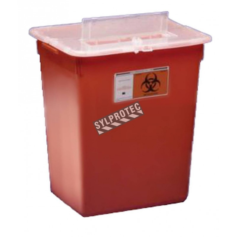 General purpose large volume sharps waste container, 26.5 liters (7 US gallons).