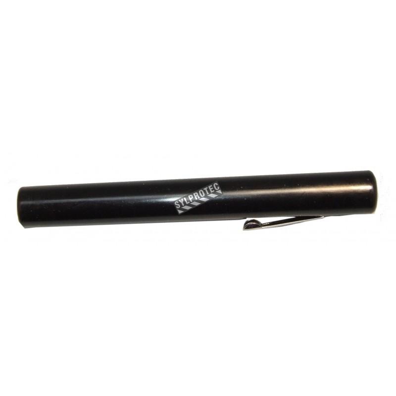 Lampe de poche jetable en plastique, format stylo.