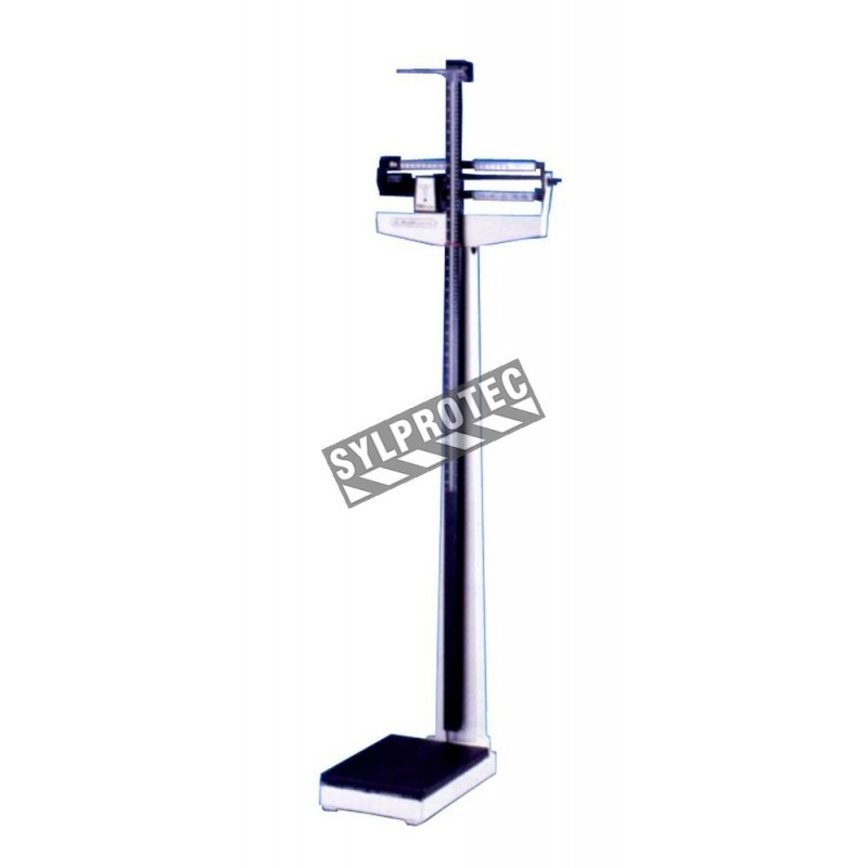 Health-O-Meter ProSeries balance beam scale with height ruler.