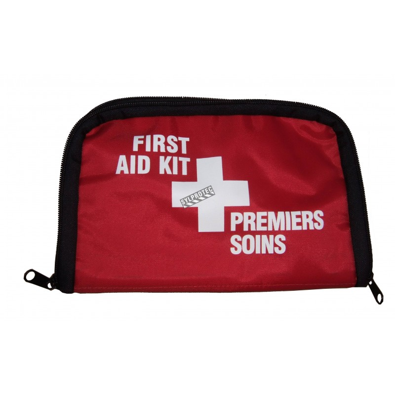 Small soft pack for first aid kit, for belt.