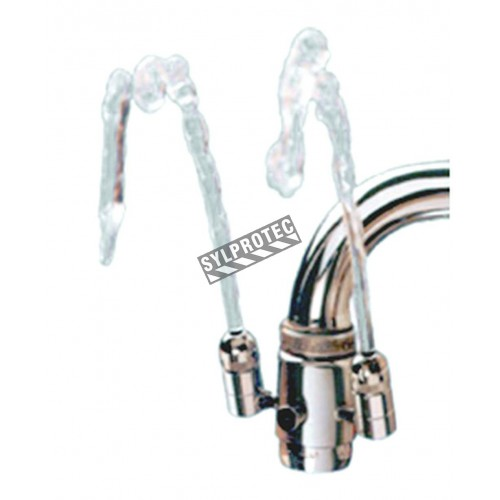 Kleen Eyes II economical eyewash kit for faucets.