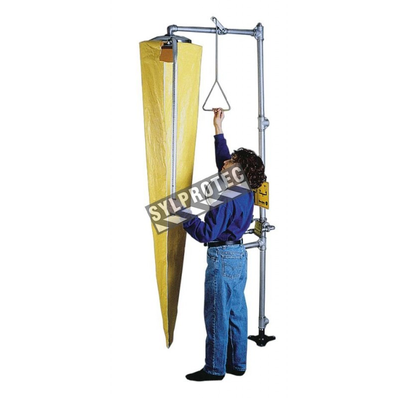 Bradley telescoping funnel for testing emergency showers, 2.1 m (7 ft), nylon.