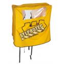 Couverture protectrice en nylon jaune pour douche oculaire portative à gravité Fendall PureFlow 1000 (PD32001).
