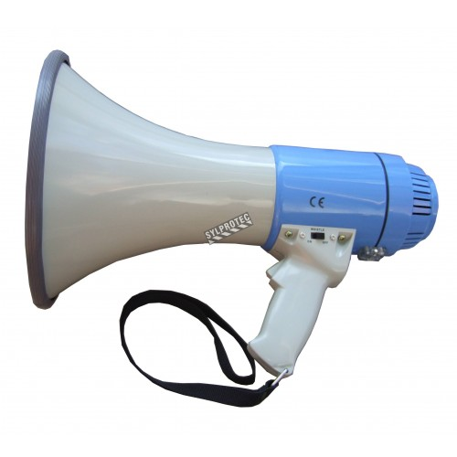 Megaphone 25 watts, range of 1 milles with Whistle.