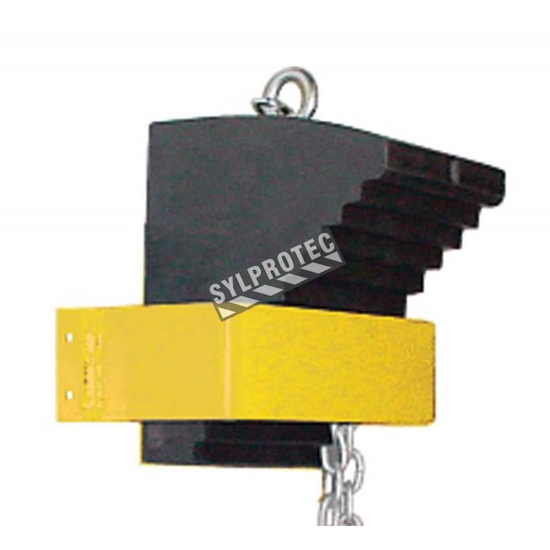 Support pour cale-roue, KH032. Fabriqué d'acier solide et peinturé en jaune. Préviens la perte des cale-roues.