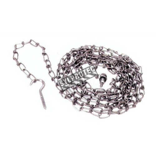 """18 feets steel Security chain for whell chock, attaches whell chock to dock . Diameter: 0.14"""" (3 mm)."""