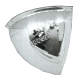 Acrylic quarter dome convex mirror, for installation indoors in a 90-degree corner.