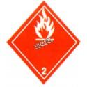Gaz inflammable, classe 2, Étiquette autocollant 4 po X 4 po, rouleau de 500. Utiliser dans le cadre des procédures SIMDUT.