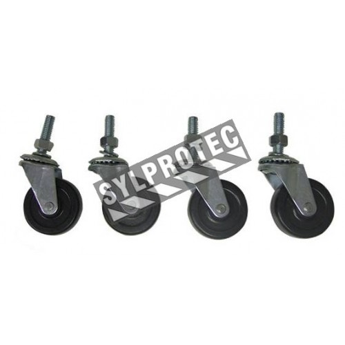 Casters for portable welding screen (2 pairs).