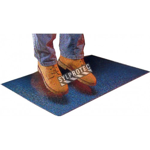 Tapis antifatigue noir de marque Comfort-King, 1/2 po, 100% mousse Zedlan.