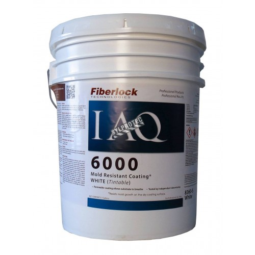IAQ 6000™ mold resistant coating based on titanium dioxide & heavy-duty alcohol to prevent mold growth. 5 gal US containers.