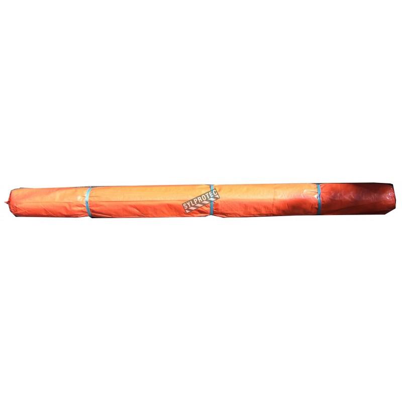Toile de confinement en polyéthylène orange de haute densité (670 deniers). Épaisseur: 3 mil. Idéal pour le désamiantage.