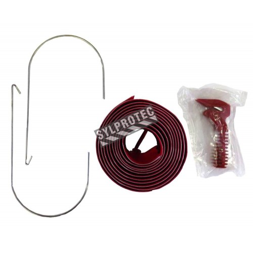 Set of 2 7'(2.1 m) long zipper to seal the entrance of containment area without limiting the flow. Set includes hooks & knife