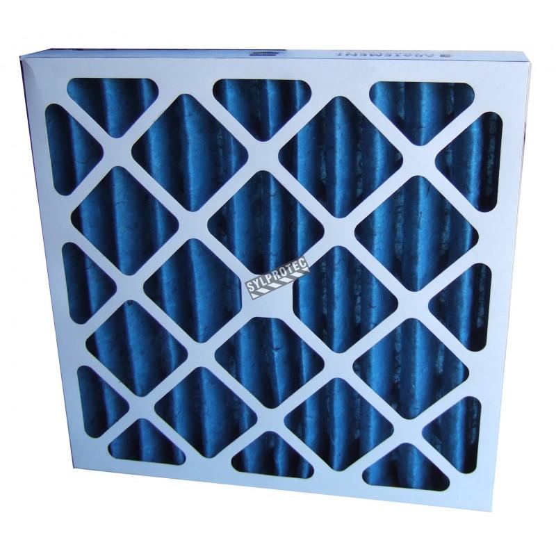 """Filtre secondaire pour purificateur d'air PREDATOR 750. Filtre 16""""X 16""""X 2"""" pour particule de 3 à 10 µm"""