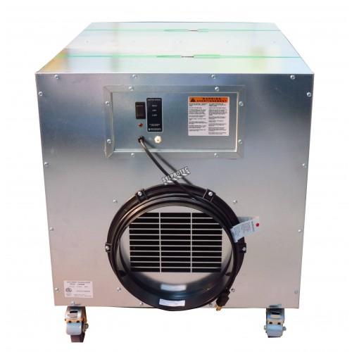 Purificateur d'air portable HEPA-AIRE deluxe à 2 vitesses. Débit de 1300 cfm ou 2000 cfm pour désamiantage et décontamination